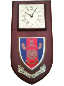 Royal Marines Poole Regimental Wall Plaque Clock
